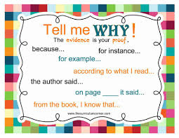 Text Based Evidence Anchor Chart Show Me The Evidence Anchor Chart To Help Students Use