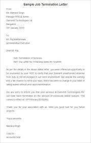 Free Termination Letter Template Sample Example Format Cover Morgan