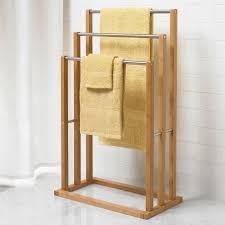 Decorative Accessories For Bathrooms Bamboo 3 Tier Towel Rack Shower Curtains Accessories