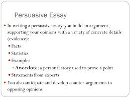 ghswt preparation persuasive essay in writing a persuasive essay  2 persuasive essay in writing a persuasive essay you build an argument supporting your