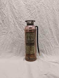 vintage copper brass fire extinguisher