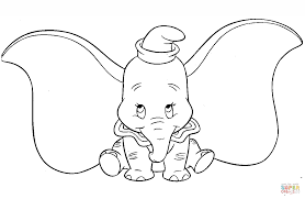 Small Picture Cute Dumbo coloring page Free Printable Coloring Pages