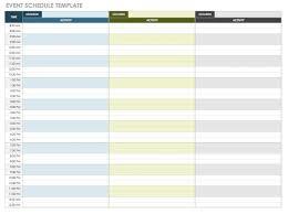 Professional Schedule Template 21 Free Event Planning Templates Smartsheet