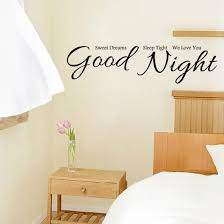 good night wall stickers home decor house decorative stickers wall