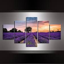 5 piece beautiful lavender landscape canvas painting lavender fields canvas print modern wall art for home decor drop shipping on lavender fields wall art with online shop 5 piece beautiful lavender landscape canvas painting