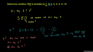 Divisibility Rules Chart Pdf Factors And Multiples Pre Algebra Math Khan Academy