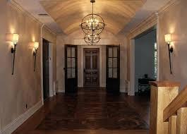 chandelier hallway rustic hallway chandelier