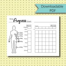 Measurement Chart Body Bullet Journal Stickers Body Measurement Chart Page Stickers Downloadable Pdf For A5 Size Journal