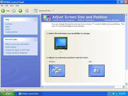 adjust size of image adjust screen size and position vs resize hdtv desktop geforce forums