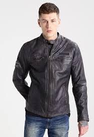 pepe jeans lennon leather jacket 945grey men clothing jackets pepe jeans shoes usa