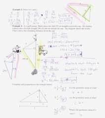 geometry honors g pap advanced pre calculus answers to geometric mean notes and homework 7 4 notes page 1 7 4 notes page 2