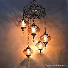 exotic pendant lights attractive 5 restaurant chandelier turkey vintage ethnic style cafe pertaining to 7