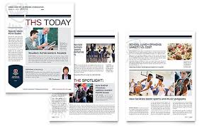 Free Newsletter Layouts High School Newsletter Layout Designs By Stocklayouts