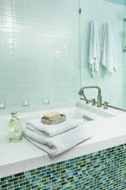 tile in bathtub with glass tiles