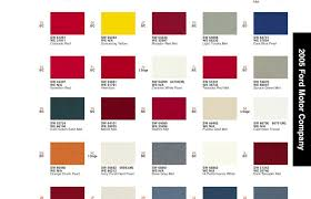 2005 Mustang Color Chart 2005 Paint Codes S197 Mustang