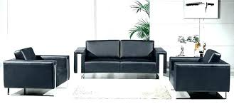 small office couch. Small Black Couch Leather Office Sofa Set Modern Design .