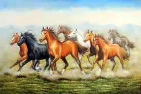 modern art oil painting wild horses herd wall decor in painting calligraphy from home garden on aliexpress com alibaba group