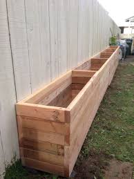 wood patio ideas. Patio Ideas 2x4 Planter Box Our Backyard Is Narrow So We Want To Take Advantage Of Wooden Planters For Vegetables Outdoor Wood N