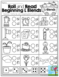 Our free phonics worksheets are colors, simple, and let kids understand phonics in a natural way through fun reading and speaking activities. Roll And Read Beginning L Blends Tons Of Fun And Interactive Printables Blends Worksheets Phonics Blends Worksheets Consonant Blends Worksheets