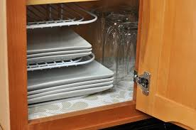 Kitchen Cabinet Shelf Paper Adding A Decorative Touch To The Cabinets With Duck Brands Shelf