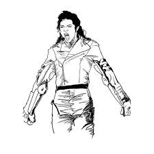 Michael Jackson Thriller Coloring Pages My Localdea