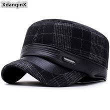 Online Shop <b>SILOQIN</b> Men's Flat Cap Simple Cotton Army Military ...
