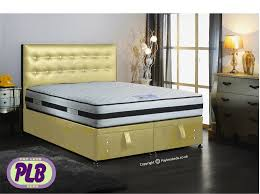 Ottoman For Bedroom Ottoman Double Bed Crystal Headboard Faux Leather Finish