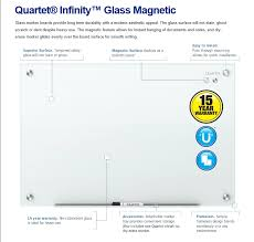 quartet infinity magnetic glass dry erase board white 96 x 48