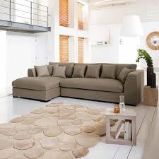 5-seat corner sofa in taupe Long Island