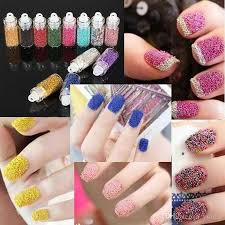 Decorative Nail Art Designs 100bottles Loose Glitter Caviar Beads Microbeads Micro Beads Nails 41