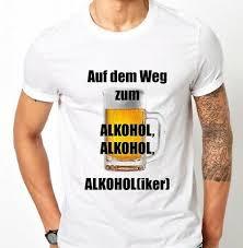 Fun Herren T Shirt Wasser Reichen Bier Alkohol Geschenk Lustige