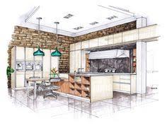 SieMatic Agate Grey KitchenEntertainment Center Concept Marker