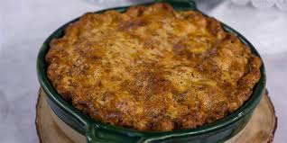 beef and guinness pie with a cheddar