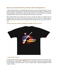T Shirt Heat Press Transfer Designs Boost Your Business Profit By Offering T Shirt Printing
