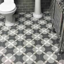 bathroom floor tile grey. atelier geo patterned encaustic bathroom floor tiles tile grey