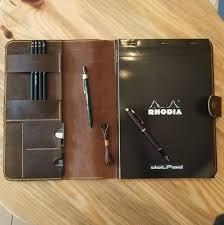 Designer Padfolio Vintage Leather Designer Portfolio Resume Folder Writting