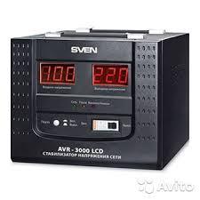 Новый <b>Стабилизатор напряжения sven AVR</b>-3000 LCD купить в ...