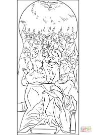 Small Picture The Holy Spirit Came to the Disciples at Pentecost coloring page