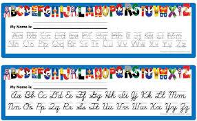 free alphabet desk chart line printable