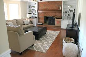 Living Room With Brick Wall Fireplace How To Whitewash A Color Ideas For