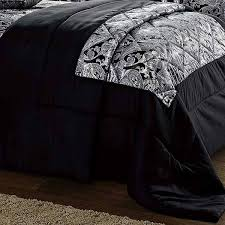 3 piece jacquard quilted paisley black