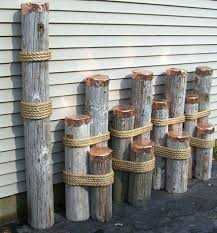 nautical decor mooring dolphins or dock pilings for nautical decor i think we could make nautical furniture decor