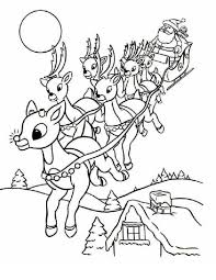 Small Picture Christmas Coloring Pages Santa And Reindeer Coolagenet