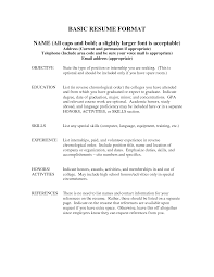 Basic Resumes Examples Basic Resume Skills Samples Vosvetenet Free