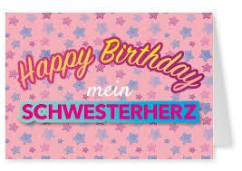 Mein Schwesterherz Geburtstagskarten Sprüche Echte Postkarten