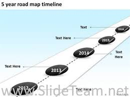 5 year timeline template 5 year road map timeline ppt slides powerpoint diagram