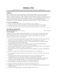 Awesome Resume Objectives Interior Design Resume Objective Examples Enom Warb Co Shalomhouseus 5