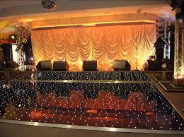 black starlit led dance floor hire
