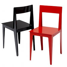 chair made of lacquered metal finish in la pliee ligne