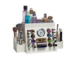 Makeup Organizer With Clock